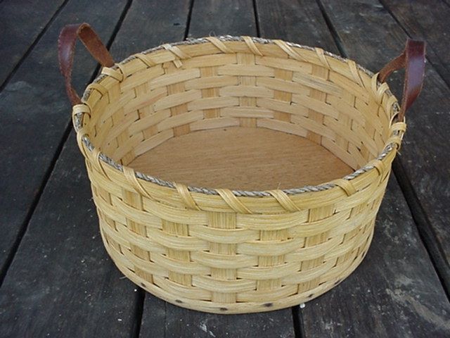 Amish Handmade Primitive Paper Plate Carrier Holder Basket
