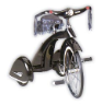 Classic Black Road Hog Retro Tricycle Trike by Airflow
