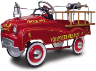 Red Volunteer Fire Truck Pedal Car