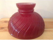 "Ruby RED  Swirl 10""  Aladdin Oil Lamp glass shade  **"