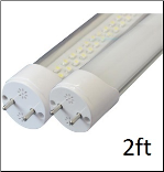 T8 2 ft LED Tubes, 12V Soft Daylight 9 Watt