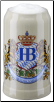 German Beer Mug - Hofbrauhaus Munich Lion Crest 1L