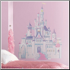 Princess Wall Decal - Disney Princess Castle with Glitter