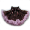 Chocolate Brown and Pink Pettiskirt