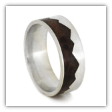Mountain Ring Redwood, Sterling Silver Wedding Band
