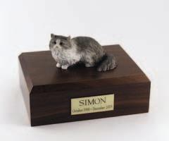 Angora Gray Cat Figurine