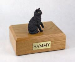 Black Cat Paw Up Figurine