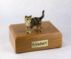 Brown Tabby Standing Cat Figurine
