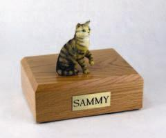 Brown Tabby Cat Figurine