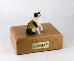 Calico Cat Paw Up Figurine