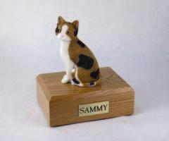 Calico Cat Sitting Figurine