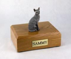 Cornish Rex Blue Cat Figurine