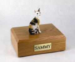 Cornish Rex Tort White Cat Figurine