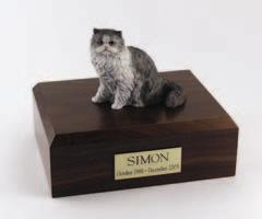 Gray Persian Sitting Cat Figurine
