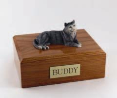 Gray Tabby Cat Figurine
