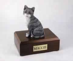 Gray White Cat Figurine