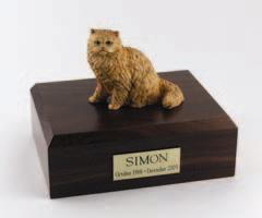 Orange Persian Cat Figurine