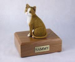 Orange White Cat Figurine