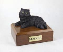 Black Persian Cat Figurine