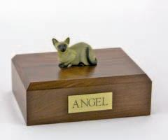 Siamese Laying Cat Figurine