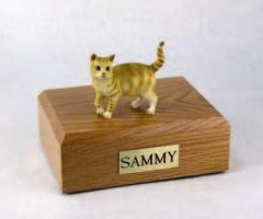 Red Tabby Standing Cat Figurine