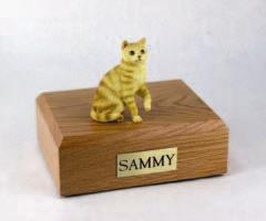 Red Tabby Sitting Cat Figurine