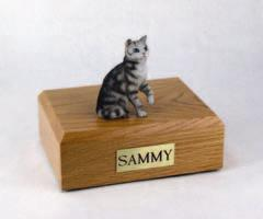 Silver Tabby Cat Figurine