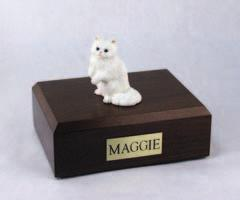 White Persian Sitting Cat Figurine