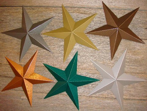 Great selection of Metallic Hammered Barn Stars!