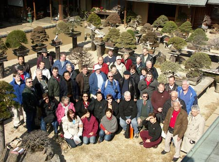 Tour members at Shunka-en Bonsai Museum of Kunio Kobayashi