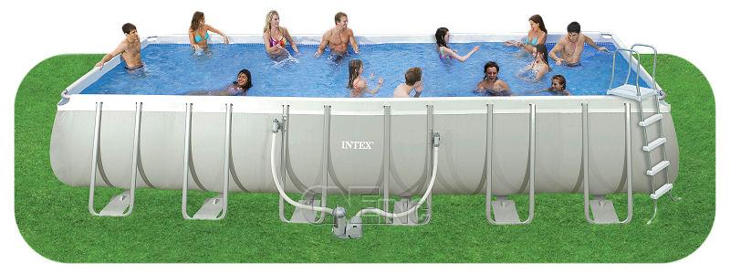 Intex above ground pools metal frame pools and ellipse for Out of ground pools for sale
