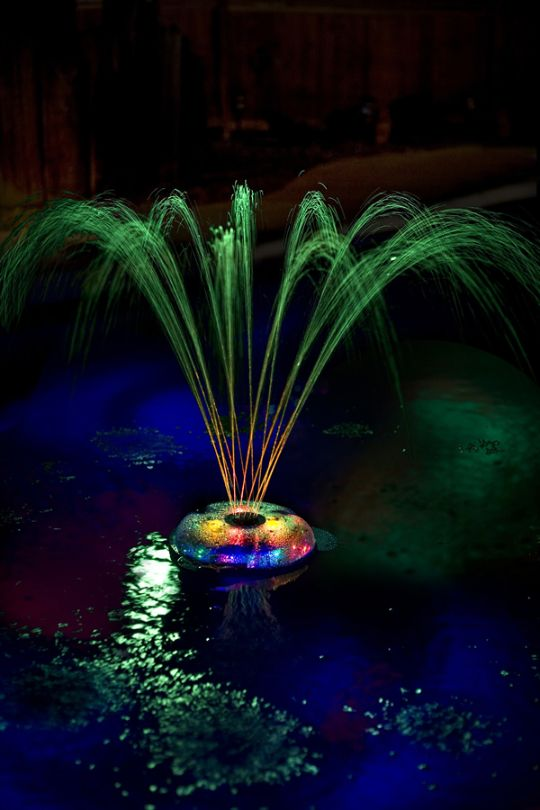 Under Water Floating Fountain And Light Show Pool Lights