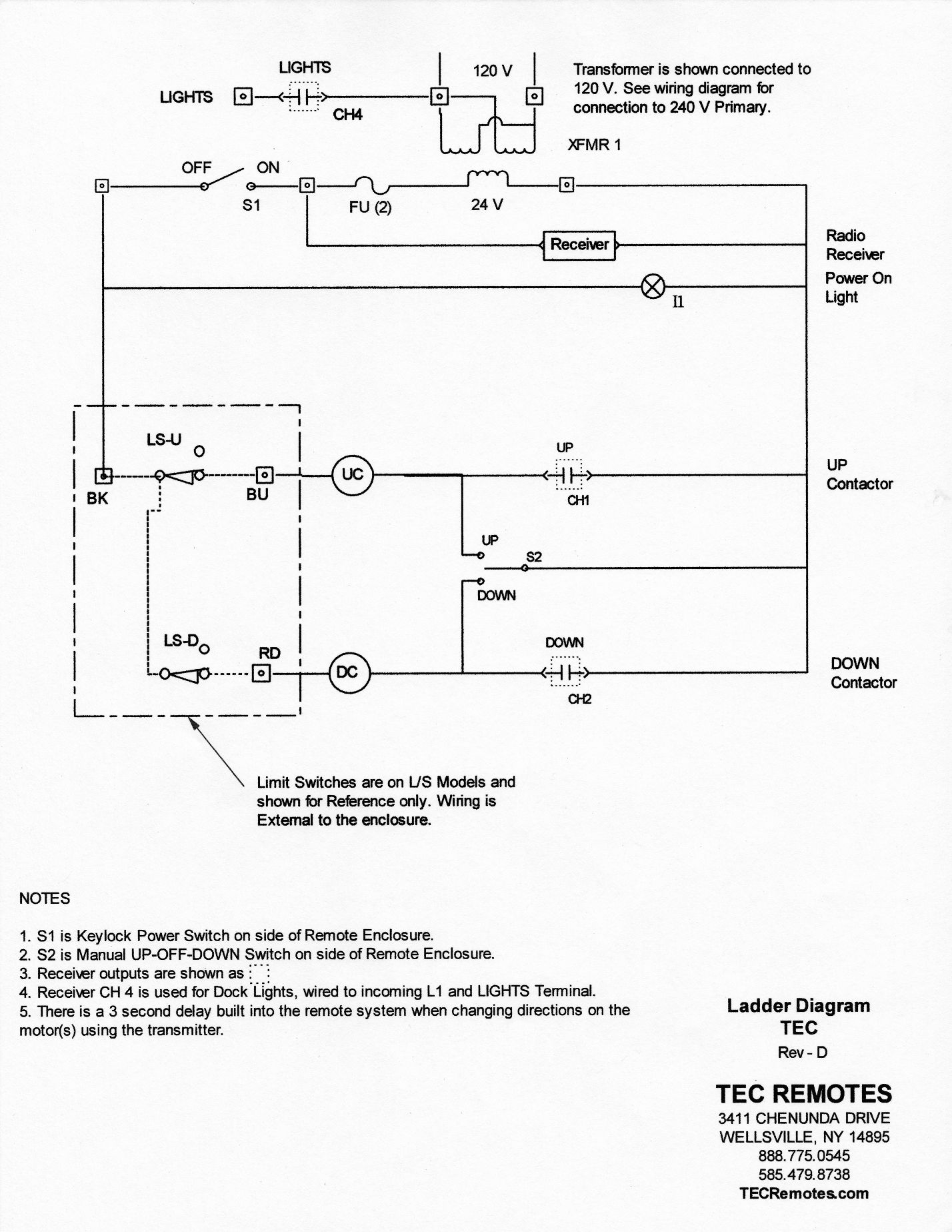wiring installation rh tecremotes com Furnace Limit Switch Wiring Diagram Limit Switch Circuit Diagram