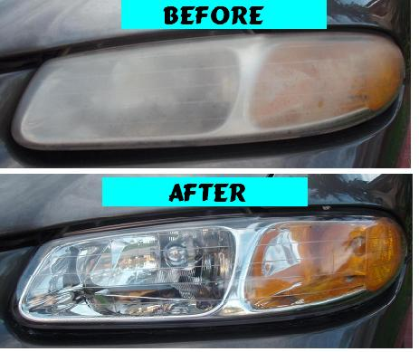 Before & After Headlight Restoration Dodge Caravan