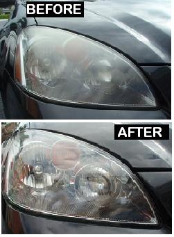 Before & After Headlight Restoration Nissan Altima