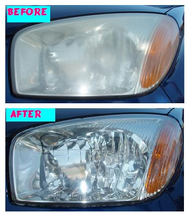 Before & After Headlight Restoration Toyota Rav4