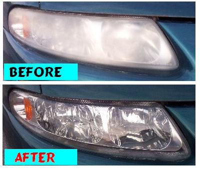 Before & After Headlight Restoration Chrysler Sebring