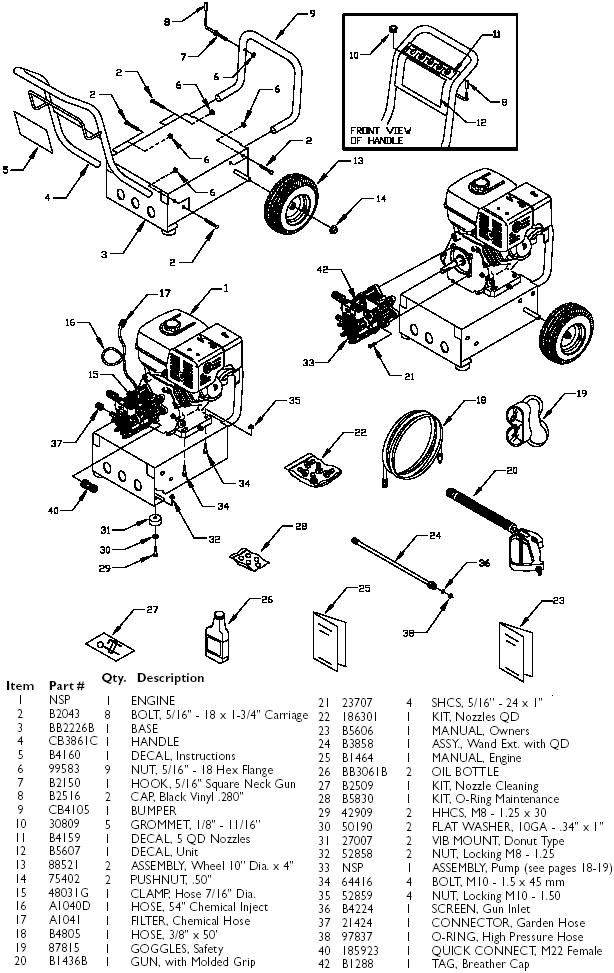 Generac Pressure Washer Model 1418 0 Replacement Parts