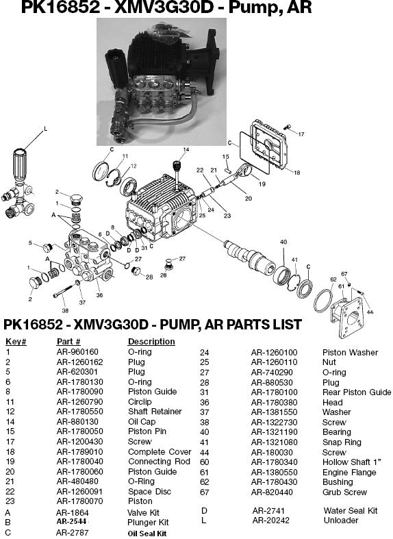Excell 3003CWH pump parts