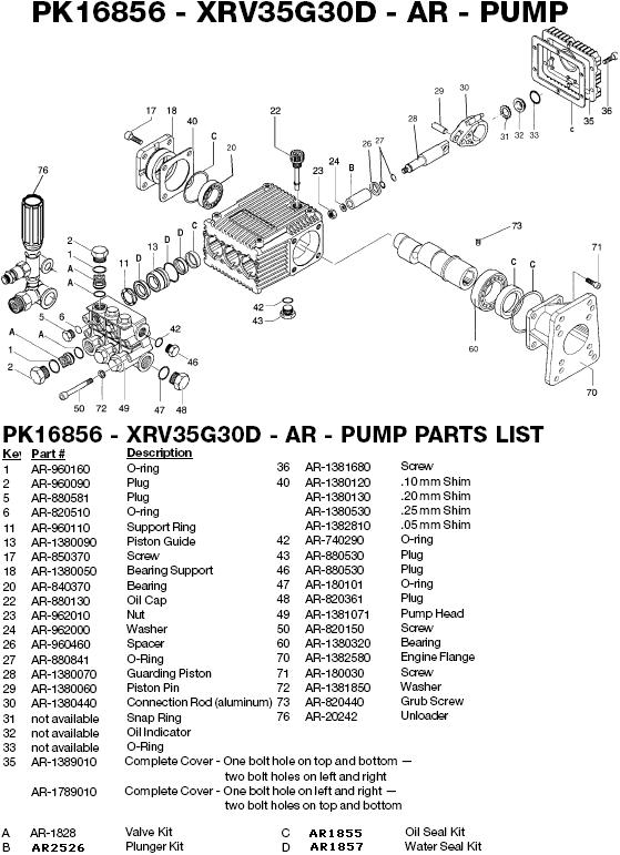 Excell 37804 pump parts