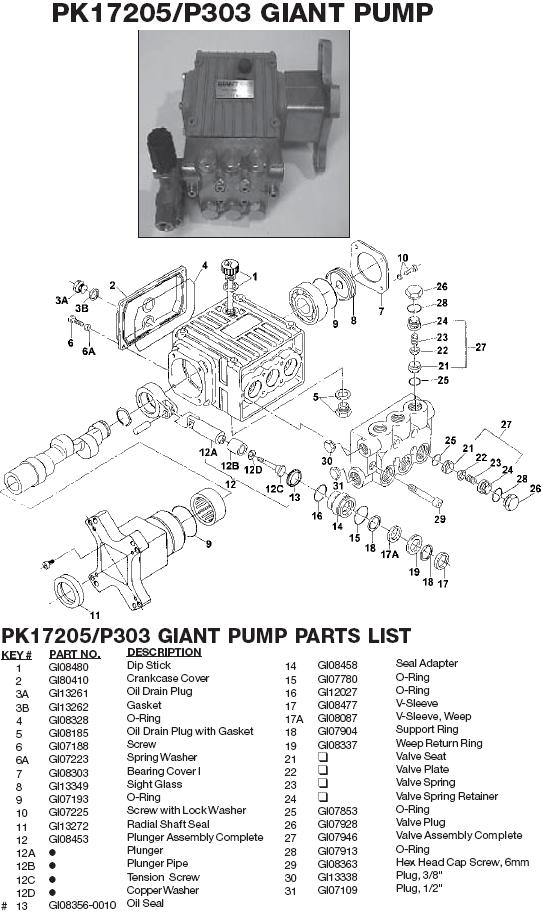 Excell 37806 pump parts