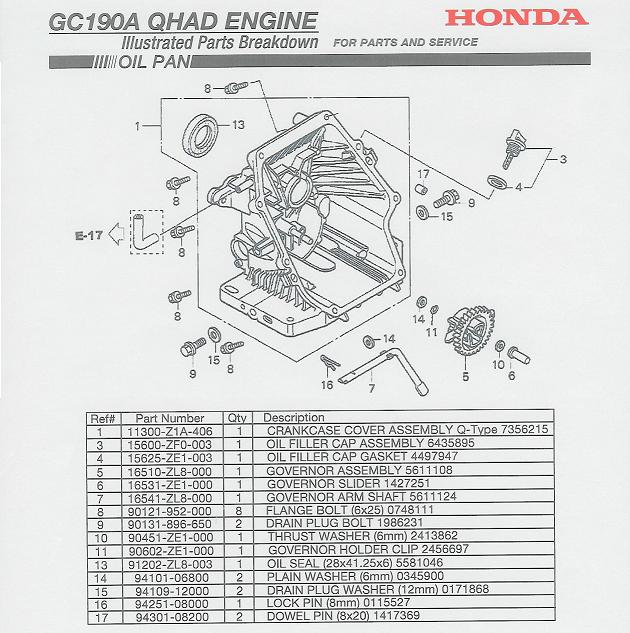 honda gc190 carburetor diagram  honda  auto parts catalog