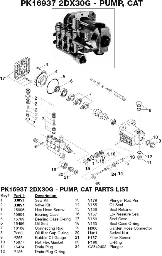 Excell MH5500H pump parts