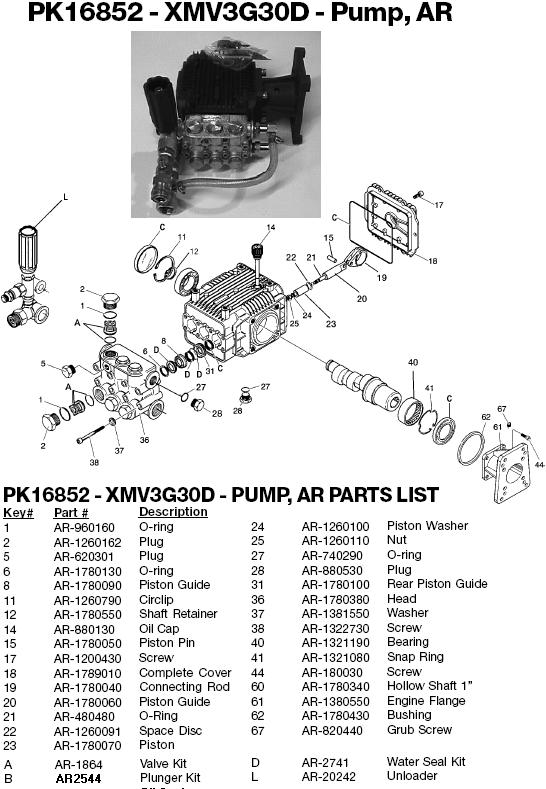 Excell MH9000B pump parts
