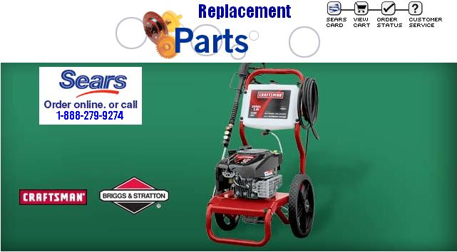 sears pressure washer help 1-888-279-9274