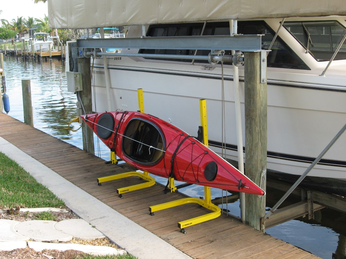 Kayak Rack on Dock in FL