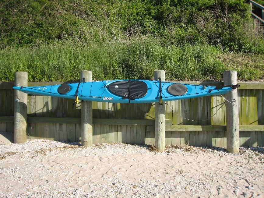 Wall Mount Rack on beach