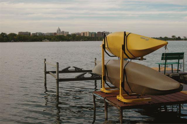 2-Boat Free Standing rack on dock