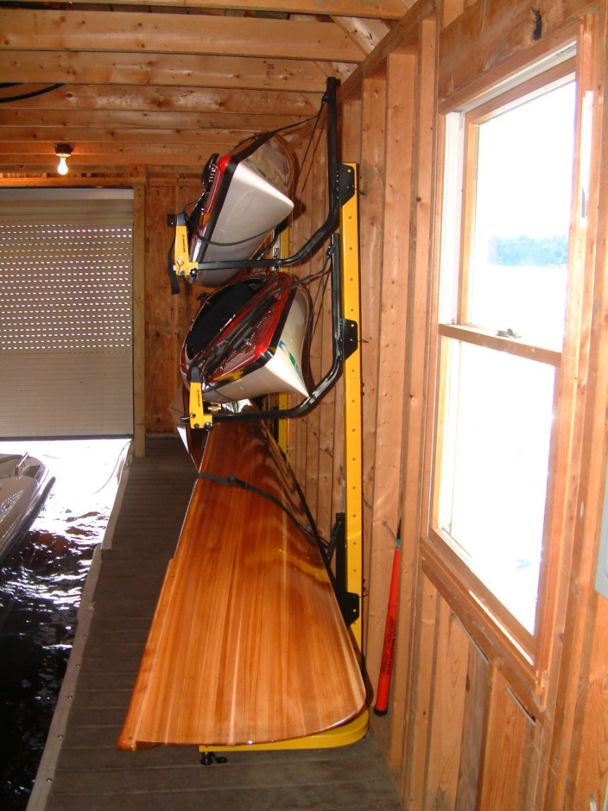 3 boat free standing kayak storage rack