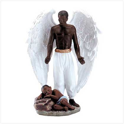 African American Angel Figurines and Cherub Figurines